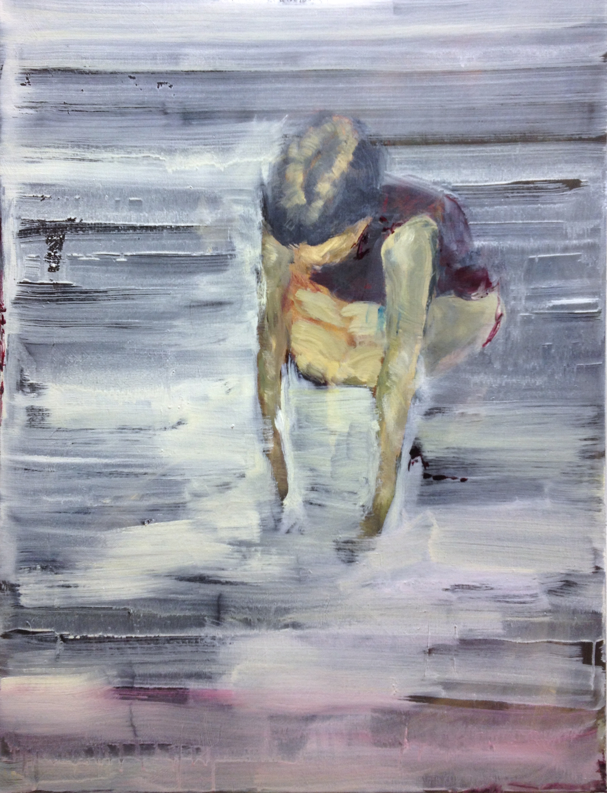 Le Repos, 60 x 80 cm, oil on canvas