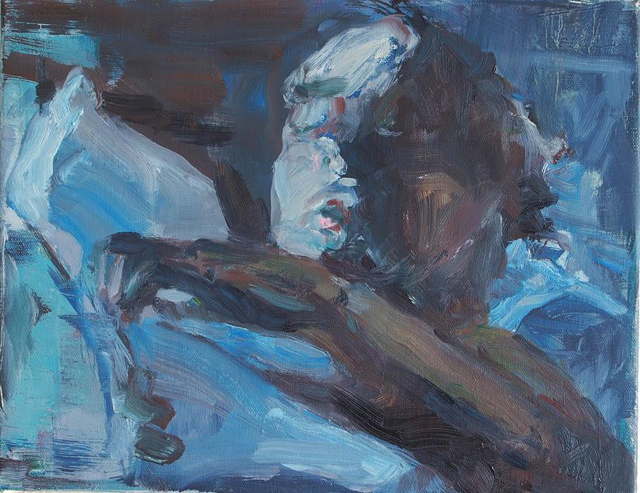 Bart Vinckier, madrugada, olie op doek, 2016