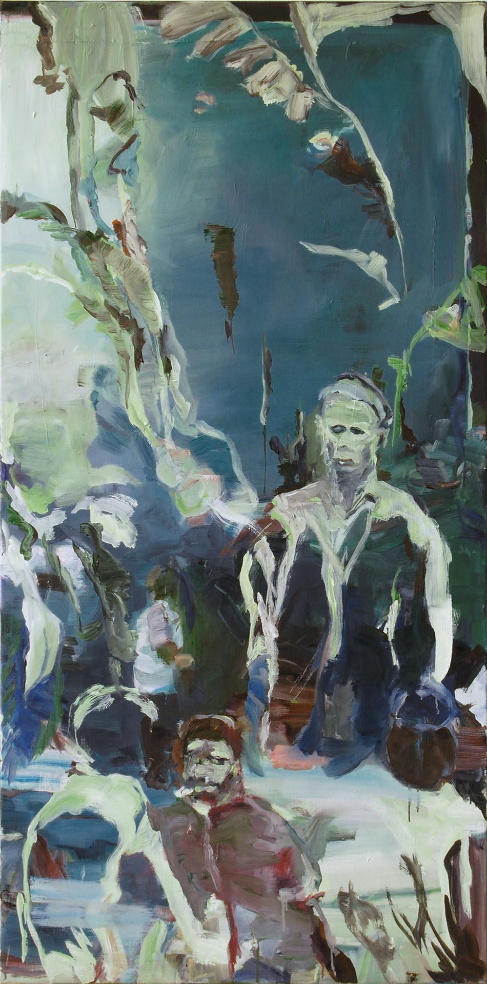 les péchés de nos pères - olieverf schilderij door Bart Vinckier
