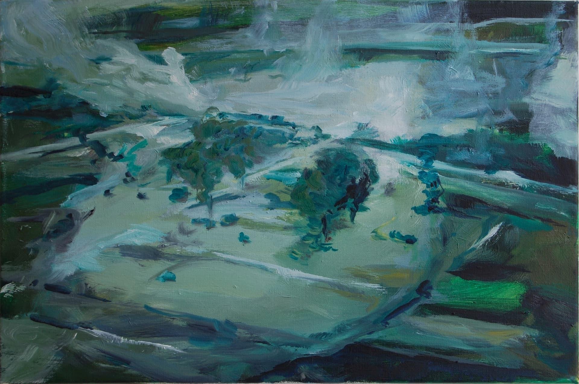 dodenakker, painting by Bart Vinckier